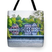 Boathouse Row - Framed In Spring Tote Bag