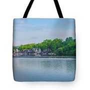 Boathouse Row From Mlk Drive - Philadelphia Tote Bag