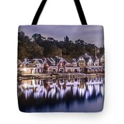 Boathouse Row Night Blue Tote Bag