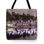 Boathouse Row Night Tote Bag