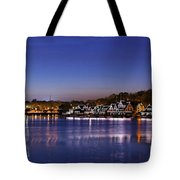 Boathouse Row Philly Tote Bag