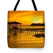 Boathouse Sunset Tote Bag