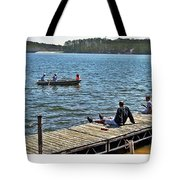 Boating And Sitting On The Dock Tote Bag