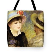 Boating Couple Aline Charigot And Renoir 1881 Tote Bag