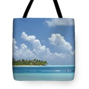 Boating In A Tahitian Lagoon Tote Bag