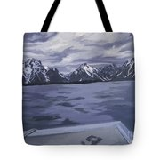 Boating Jenny Lake, Grand Tetons Tote Bag
