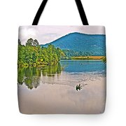 Boating On Connecticut River Between Vermont And New Hampshire Tote Bag