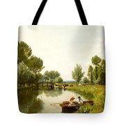 Boating On The Stour Tote Bag