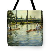 Boating On The Yerres Perissoires Sur Lyerres 1877 Tote Bag