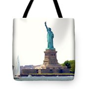 Boating With Liberty Tote Bag