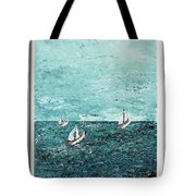 Boats And Birds Tote Bag