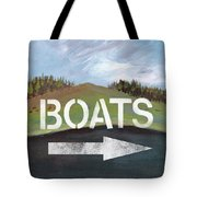 Boats- Art By Linda Woods Tote Bag