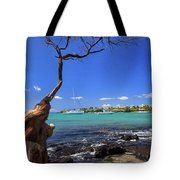 Boats At Anaehoomalu Bay Tote Bag