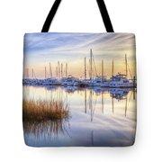 Boats At Calm Tote Bag