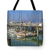 Boats At Fisherman Tote Bag