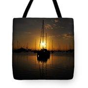 Boats At Last Light Tote Bag