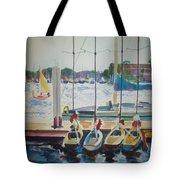 Boats At Marina Del Rey Tote Bag
