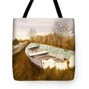 Boats By Causeway Tote Bag