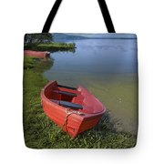 Boats By The Lake Iceland  Tote Bag