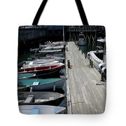 Boats In A Line Tote Bag