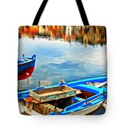 Boats In Autumn Tote Bag
