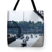 Boats In Ballard Locks Tote Bag
