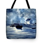 Boats In Blue Tote Bag
