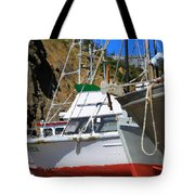 Boats In Drydock Tote Bag