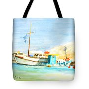 Azure Harbor Tote Bag