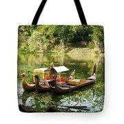 Boats In Lake Ankor Thom Tote Bag