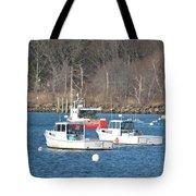 Boats In Rye Harbor Tote Bag