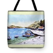 Boats In Spain Tote Bag