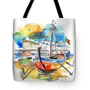 Boats In Tavira In Portugal 02 Tote Bag