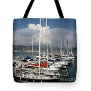 Boats In Port Tuscany Tote Bag