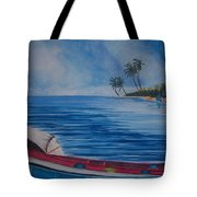 Boats In The Caribbean Tote Bag
