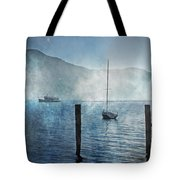 Boats In The Fog Tote Bag by Joana Kruse