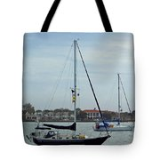 Boats In The Inlet Tote Bag