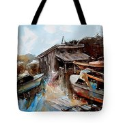Boats In The Slough Tote Bag