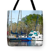Boats In The Water Tote Bag