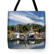 Boats In Winchester Bay Tote Bag