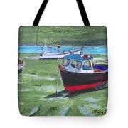 Boats Low Tide Emsworth Tote Bag