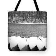 Boats - Lower Twin Lake Bw Tote Bag