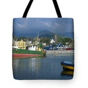 Boats Moored At A Harbor, Dingle Tote Bag