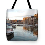 Boats Of Amsterdam Tote Bag