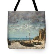Boats On A Beach, Etretat Tote Bag