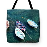 Boats On A Line Tote Bag