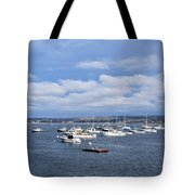 Boats On Blue Water Tote Bag