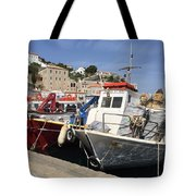 Boats On Hydra Tote Bag