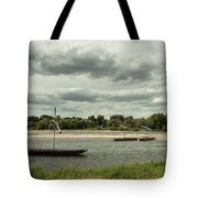 Boats On River Loire - France Tote Bag