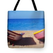 Boats On The Beach, Aguadilla, Puerto Tote Bag